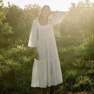 CHRISTY DAWN Elodie Dress XL Hawthorn NWT Ivory